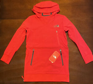 Boys The North Face Tekno Red Flashdry  Hoodie size Medium 10 / 12 NEW NWT $85