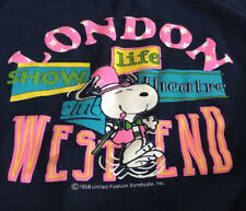 Snoopy Sweatshirt Vintage Pullover London West End Theatre XL 1958 Very RARE
