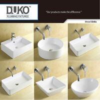 Contemporary Bathroom  Vessel Sink Porcelain Ceramic Modern Art Basin Bowl White
