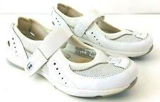 RYKA Womens 10W Flats Mary Jane White Leather