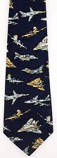 Fighter Jets Mens Necktie Pilot Air Force Jet Airplane Plane Blue Gift Tie New