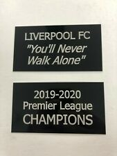 Liverpool FC 2019-2020 - 130x70mm Engraved Plaque Set for Signed LFC Memorabilia