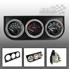 "TRIPLE GAUGE KIT OIL PRESSURE, OIL/WATER TEMP GAUGES 52mm / 2"" DASH  PANEL MOUNT"