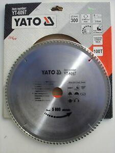 LAME DE SCIE CIRCULAIRE 300 mm 100 DENTS  GAMME PRO YATO YT-6097