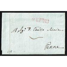 PR010 - 1808 Prefilatelica da Napoli a Penne (Pescara) con testo