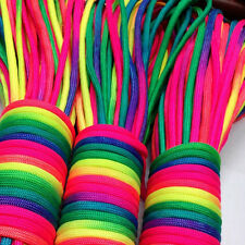 Outdoor 101FT  31m Rainbow Color Paracord Camping Hiking Rope Parachute Cord