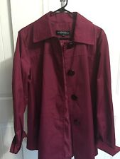 REDUCED!Ellen Tracy Burgundy Water Resistant Outwear Coat Jacket Size Large NWOT