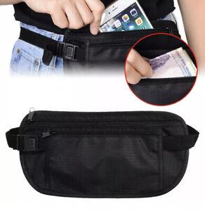 Travel Sport Zippers Running Slim Bum Bag Money Waist Belt Pouch Money Wallet