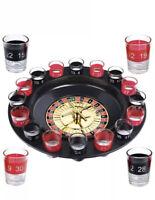 Shot Glass casino Roulette Drinking Game Set 1 Ball & 16 Shot Glasses BOX DAMAGE