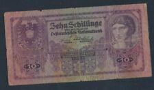 Oostenrijk Winkel-Aantal.: 212 (89) sterk gebruikt (IV) 1925 10 Schillin(7497880