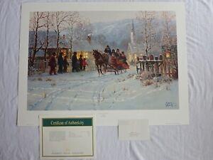 "G HARVEY MEMORIES OF HOME ARTIST SIGNED WALL ART PRINT 245/2500 33.75"" x 25"""