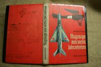Fachbuch mit 65 Modellbaupläne für Flugzeuge 1900-1962, MiG, Modellbau, DDR 1965