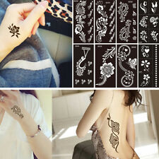 Sexy Women Glitter Henna Stencil Body Art Temporary Tattoo Sticker Decals Design