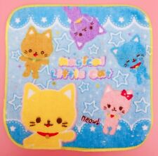 Kawaii AMARILLO Japonés Kitty Gatos Toalla Placa Frontal Gatitos Hada KEI Regalo
