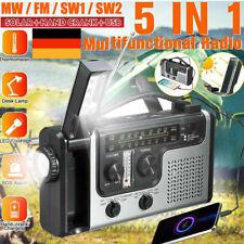 Solar Radio Handkurbel AM/FM SOS Notfall Handy Ladegerät LED Taschenlampe USB