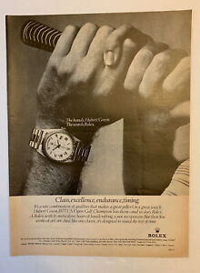 1978 Rolex Oyster Day-Date Watch Hubert Green Print Ad Vintage US Open Champ