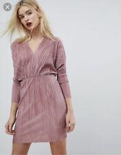 a375eb530251 ASOS Rosy Pink Plisse Batwing Dress - UK 10