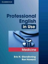 Professional English in Use Medicine by Eric Glendinning 9780521682015