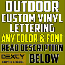 """4"""" CUSTOM Vinyl Lettering Decal Personalized Sticker Window Wall Text Car Track"""