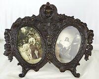 Antique French Bronze Hanging Double Picutre Frame Angel Signed ERTE PARIS 1907