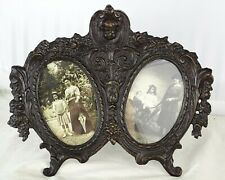 Antique French Bronze Hanging Double Picutre Frame Angel Signed ERTE PARIS 1907