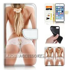 ( For iPod Touch 6 ) Wallet Flip Case Cover AJ40789 Sexy Girl