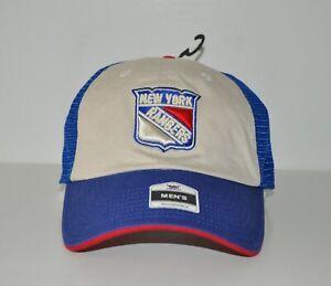 BNWT New York Rangers Men's Trucker Style Snapback Cap Hat (One Size) Jersey