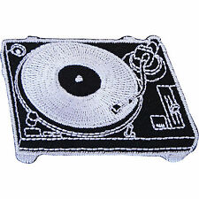 DJ Deck Turntable Embroidered Iron Sew on Patch Record Player Bag T Shirt Badge