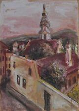 Josef Dobrowsky (1889-1964): Street view, aquarell