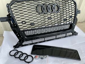 RSQ5 Style Honeycomb Front Grill Upper Grille For AUDI Q5/SQ5 W/Quattro 2013-17