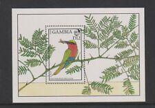 Gambia - 1988, Flora & Fauna, Red Throated Bee Eater Bird sheet - MNH -SG MS769a