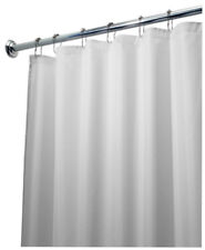 "Interdesign 15062 Fabric Shower Curtain Liner, White, 72"" x 96"""