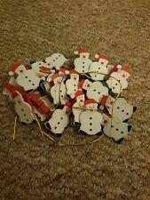 Christmas Festive Snowman Card Hanging Clips