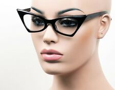Pointy Cat Eye Glasses Sun Pinup Vintage Style Clear Smoke Multi Color K33
