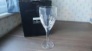 "1 John Rocha Waterford Crystal Wine Glass ""Imprint"" Design Signed+ Box 23cm tall"