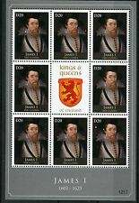 Gambia 2012 MNH Kings & Queens of England James I 8v M/S Royalty Stamps
