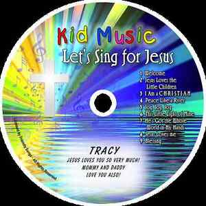 ~eBay~Let's Sing For Jesus Personalized Kids Christian Music CD