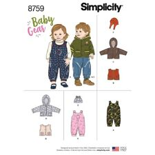 SEWING PATTERN! MAKE BABY GIRL~BOY OUTFIT! OVERALLS~JACKET~HAT~VEST! PREEMIE~XL
