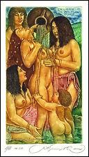 Kirnitskiy Sergey 2002 Exlibris C4 Erotic Eritik Nude Nudo Woman Angel Amor 49A