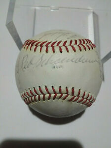 1974 St. Louis Cardinals Autographed Team Signed Baseball 20 Signatures Gibson