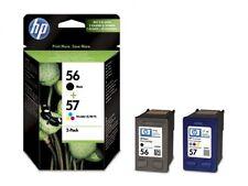 GENUINE ORIGINAL HP 56 Black 57 Colour Ink Cartridges BRAND NEW C6656AE SEALED