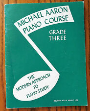 Curso De Piano Michael Aaron grado 3 Fur Elise Beethoven Brahms Libro de música de Bach