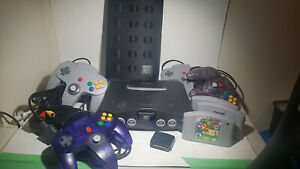 Nintendo N64 with Super Mario 64, Harvest Moon 64, 4 Controllers and more!