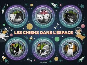 Togo Dogs in Space Stamps 2020 MNH Dezik Tsygan Liza Michka Tchizhik 6v M/S