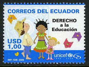 Ecuador 1789, MNH. UNICEF, 60th anniv. Children and books, 2006