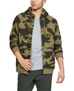 NWT UNDER ARMOUR Rival Fleece ColdGear Green Camo Full Zip Hoodie Jacket Sz M