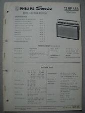 Philips 12 RP484 Kofferradio Rallye Luxus Service Manual Ausgabe 03/68