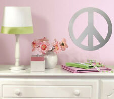 PEACE SIGN mirror wall sticker 1 big peel and stick decal light weight acrylic