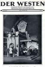 Albert Lindner Wein Siegburg / Trittenheim Titelblatt aus: DER WESTEN von 1927