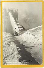 Real Photo Postcard RPPC Toboggan Heafford Junction WI